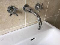 Concealed sink unit taps