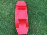 Red toddler seesaw