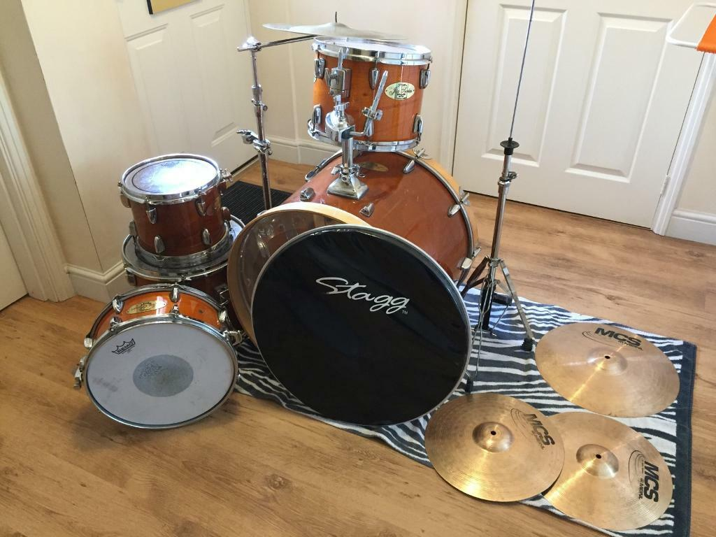 stagg jia series mahogany jazz drum kit in sketty swansea gumtree. Black Bedroom Furniture Sets. Home Design Ideas