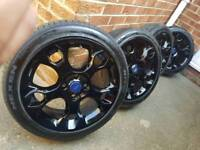 """17"""" genuine ford fiesta st alloy wheels mint condition"""