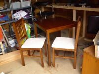 Kendall Solid Walnut Dining Table & 2 Chairs
