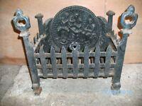 cast iron fire basket black