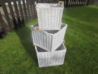 Set of 3 new wicker baskets