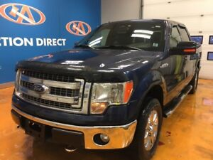 2013 Ford F-150 XLT 4X4/ V8/ SUPER CREW/ HEATED LEATHER SEATS...