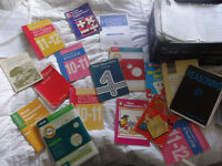 School Selection Tests. Large quantity of books and papers.