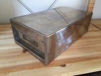 Heavy industrial steel box / desk drawer - Safety deposit style