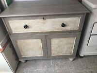 SECRETAIRE DESK CUPBOARD PAINTED DRAWERS CLASSIC MAHOGANY ITEM EDWARDIAN FALL DOWN FRONT