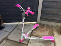 3 wheel Scissor Scooter Ozbozz - Pink