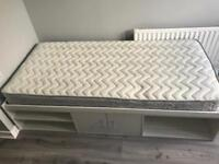 Single White Cabin Bed with mattress (Immaculate condition)