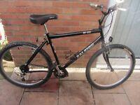 mens raleigh m30 mountain bike 20 inch frame with bike lock £59.00