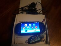 Ps vita with charger and box