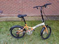 "Safari REFLEX - 20"" Wheel Folding Bicycle - 6 Gears, Adjustable Seat, Folds in seconds - Unisex"