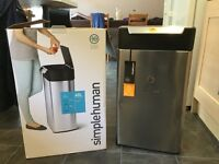 Simplehuman 40l touchbar bin - unused