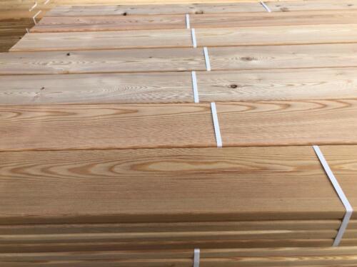 Terrassendielen Glatt 22x140mm Zaun Verkleidung Sibirische Larche In