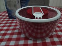 New in Box: Zyliss SwiftDry Salad Spinner - Smart Touch & Brake System, Air Vents - Red