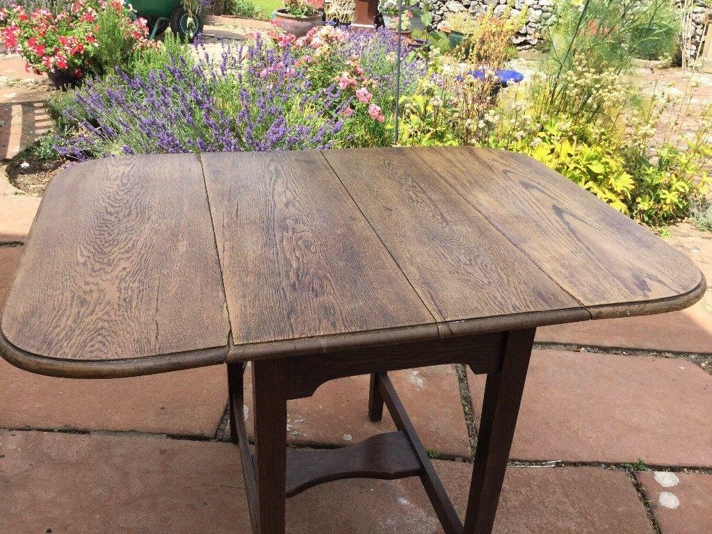 Lovely old oak drop leaf table penrith
