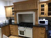 Complete Solid Pine Kitchen with Granite Worktops