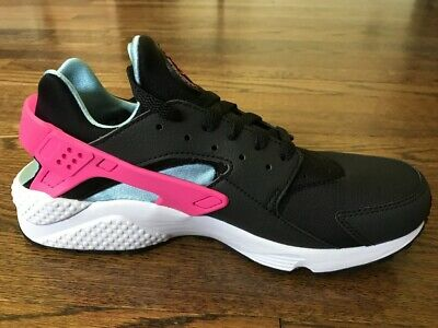 NWB Womens Nike Air Huarache Run Black/Pink/Blue/White Sneakers Shoes US 10  ()