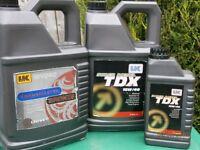 11 ltr 15w / 40 engine oil. 5 ltr Transmaster Bronze 6 ltr Sup Diesel TDX
