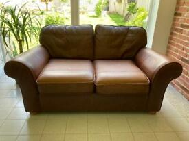 M&S Two Seater and Three Seater Leather Sofas