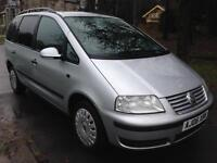 VOLKSWAGEN SHARAN 1.9 TDI S 115 5dr Tip Auto (silver) 2006