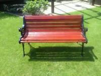 Refurbished cast iron ends garden bench
