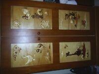 childrens (animal carved) wardrobe & toy box