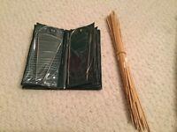 Knitting needles (bamboo and metal)