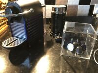 Nespresso machine / frother and capsule box