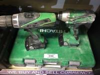 Hitachi power drill and impact driver
