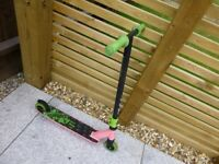Kids Pink and Green Stunt Scooter