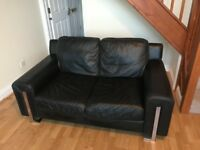Black Sofa - Faux-leather - Outstanding Perfect Condition