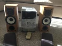 sony hifi system with DAB radio 3 disc