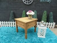 CORONA PINE COFFEE TABLE VERY SOLID AND IT'S IN VERY GOOD CONDITION 59/59/54 cm £20