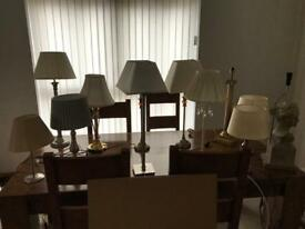 13 x table lamps