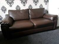 Faux leather 2 seater + 3 seater sofa in good condition
