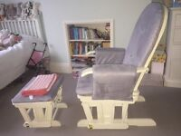 Nursing Chair and stool - excellent condition