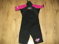 Girls Wetsuit Size 8 - Pink and Black (Age 8 - 10)
