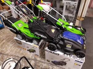 Greenworks and Kobalt Electric Lawnmowers - Starting at $99!