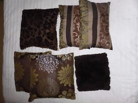 Chocolate Brown Set of 6 Cushions