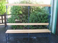 Changing room bench, shelf, hooks, utility, sports, club or home