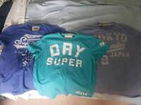 Superdry t-shirts x 3 size large