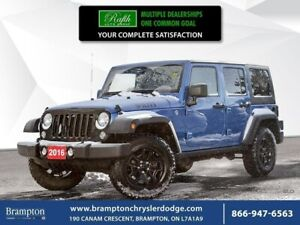 2016 Jeep Wrangler Unlimited Willy's 4X4 MANUAL CLEAN TITLE HARD