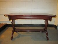 MAHOGANY REFECTORY STYLE COFFEE TABLE FREE DELIVERY