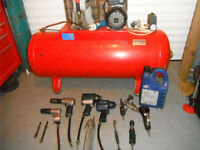 air compressor and blue points air tools