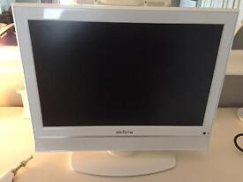 """White 19"""" tv. Used in bedroom only."""