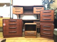 Pair of G Plan Bedside Tables - Chest of Drawers Retro Vintage Cabinet Sideboard Ercol McIntosh