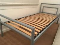 Single kids bed John Lewis with memory foam mattress and guest bed