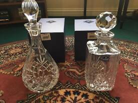Edinburgh Crystal decanter and spirit