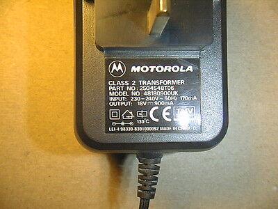 Motorola Power Transformer Input 230-240vac Output 18vdc 900 Ma Class 2